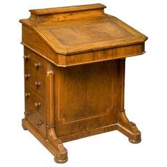 Walnut Davenport Desk, England, 19th Century