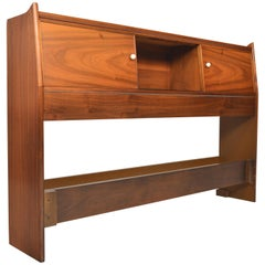 Walnut 'Declaration Full Sized Headboard by Drexel