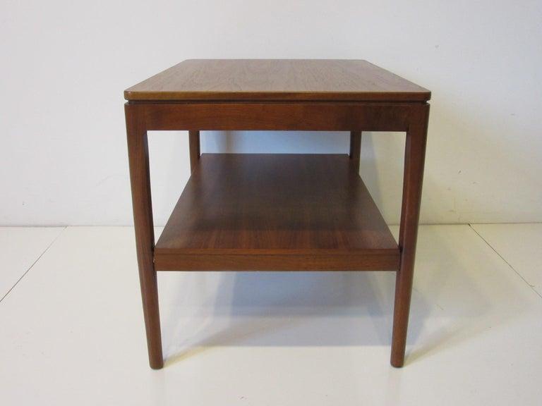 Mid-Century Modern Walnut Side Table Declaration Line by Kipp Stewart for Drexel For Sale