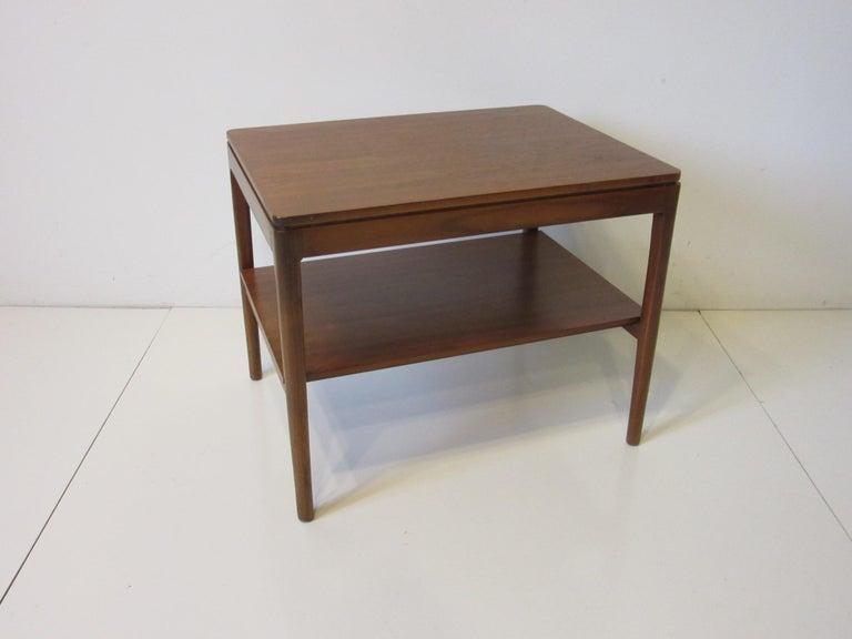 American Walnut Side Table Declaration Line by Kipp Stewart for Drexel For Sale