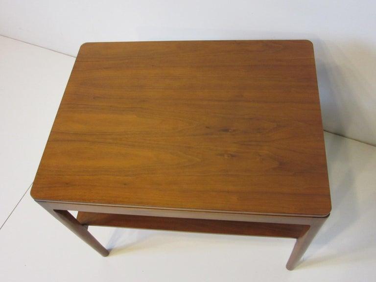 Walnut Side Table Declaration Line by Kipp Stewart for Drexel In Good Condition For Sale In Cincinnati, OH