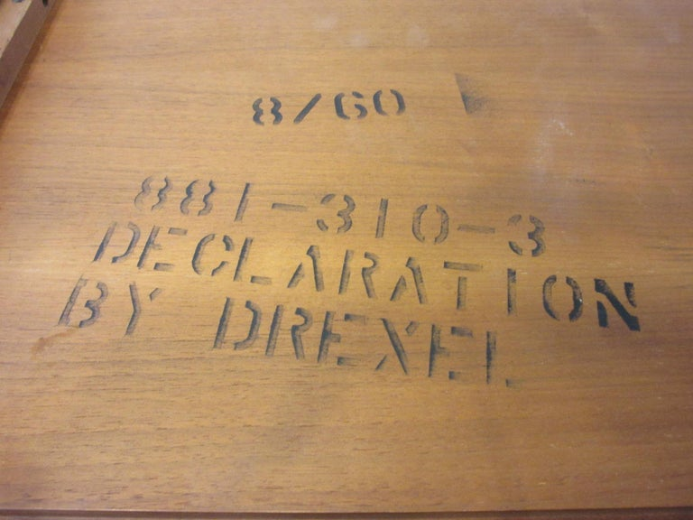 20th Century Walnut Side Table Declaration Line by Kipp Stewart for Drexel For Sale