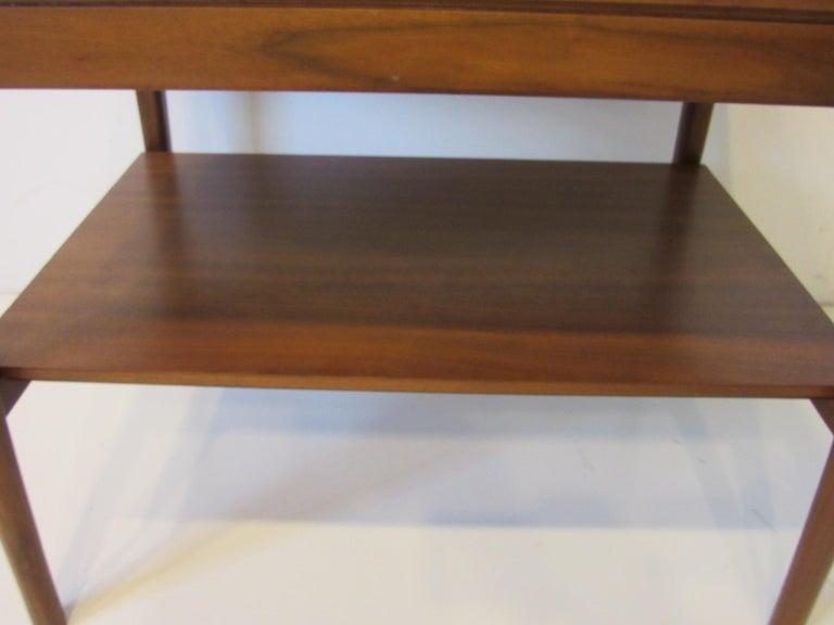 Walnut Side Table Declaration Line by Kipp Stewart for Drexel For Sale 1