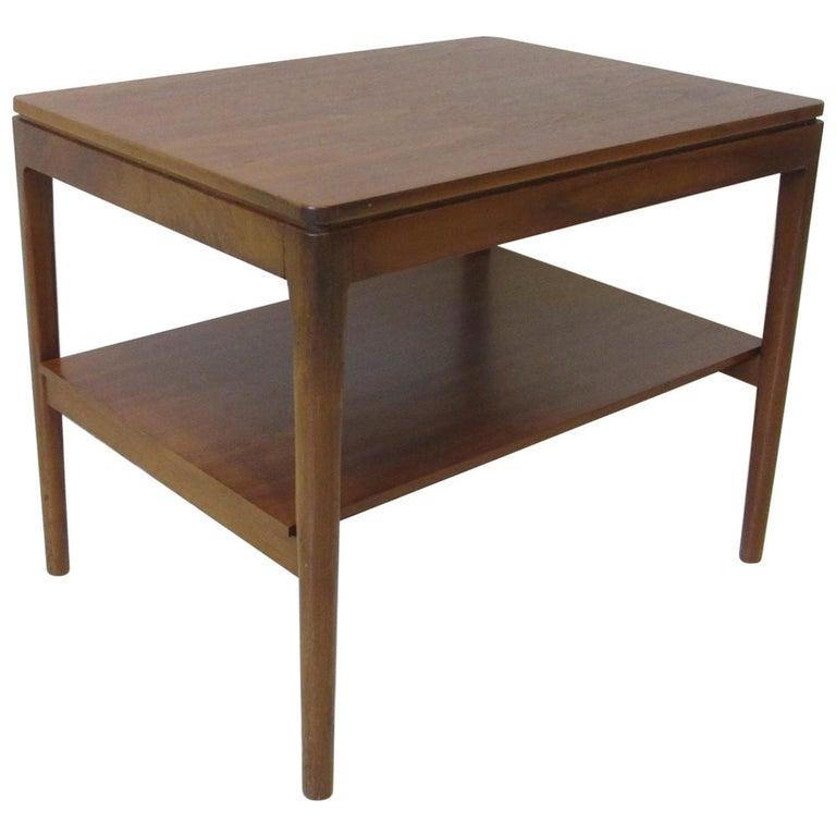 Walnut Side Table Declaration Line by Kipp Stewart for Drexel For Sale
