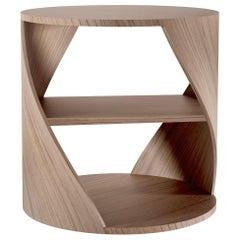 Walnut Decorative Nightstand, MYDNA Side Table by Joel Escalona