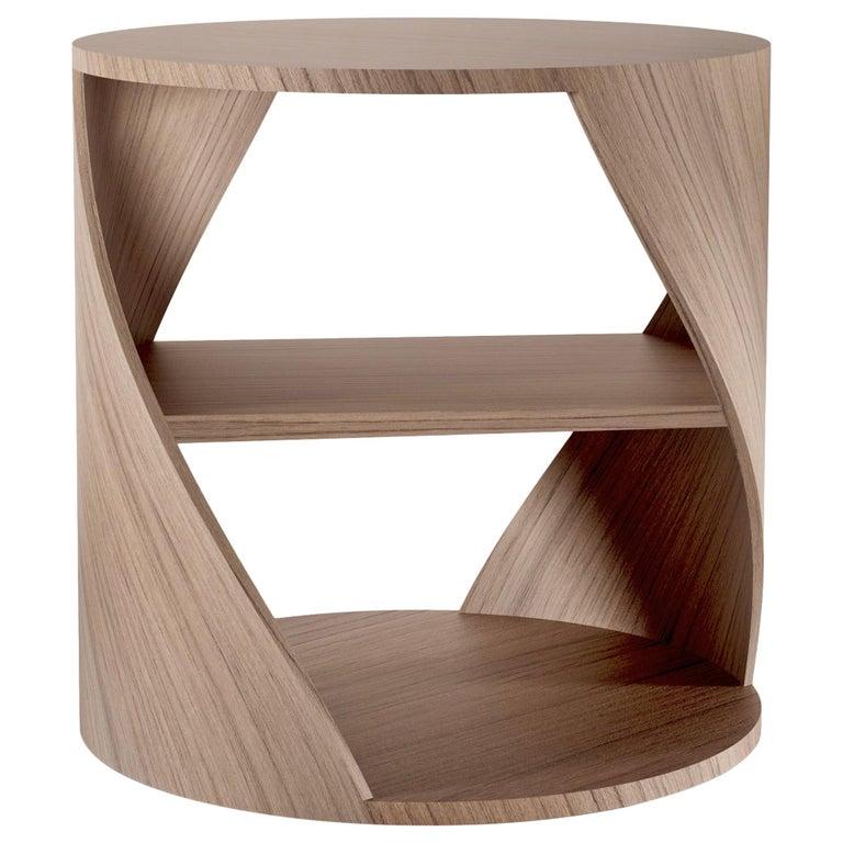 Walnut Decorative Nightstand, MYDNA Side Table by Joel Escalona For Sale