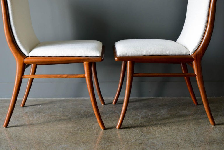 Walnut Dining Chairs by T.H. Robsjohn-Gibbings for Widdicomb, ca. 1960 For Sale 7