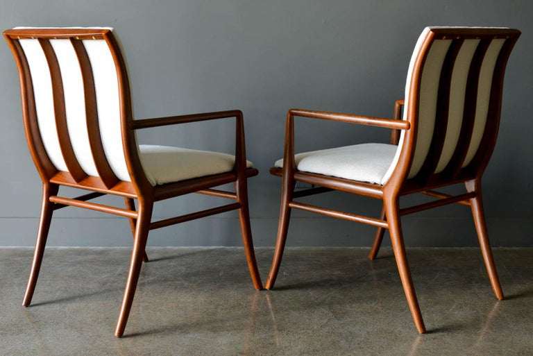 American Walnut Dining Chairs by T.H. Robsjohn-Gibbings for Widdicomb, ca. 1960 For Sale