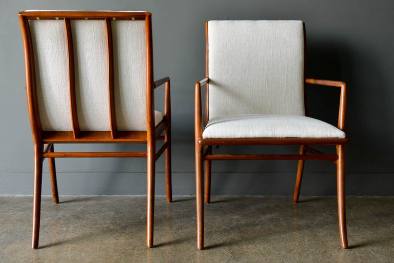 Walnut Dining Chairs by T.H. Robsjohn-Gibbings for Widdicomb, ca. 1960 For Sale 1