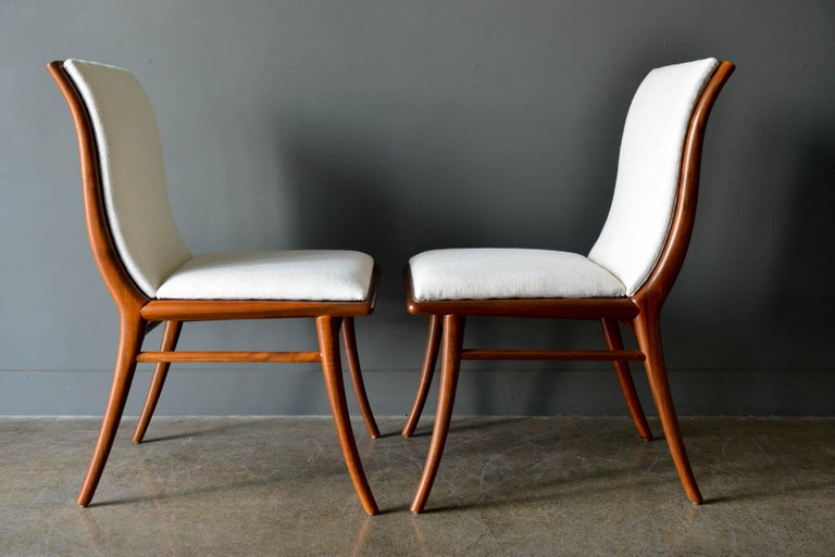 Walnut Dining Chairs by T.H. Robsjohn-Gibbings for Widdicomb, ca. 1960 For Sale 2