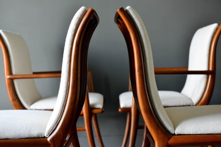 Walnut Dining Chairs by T.H. Robsjohn-Gibbings for Widdicomb, ca. 1960 For Sale 3