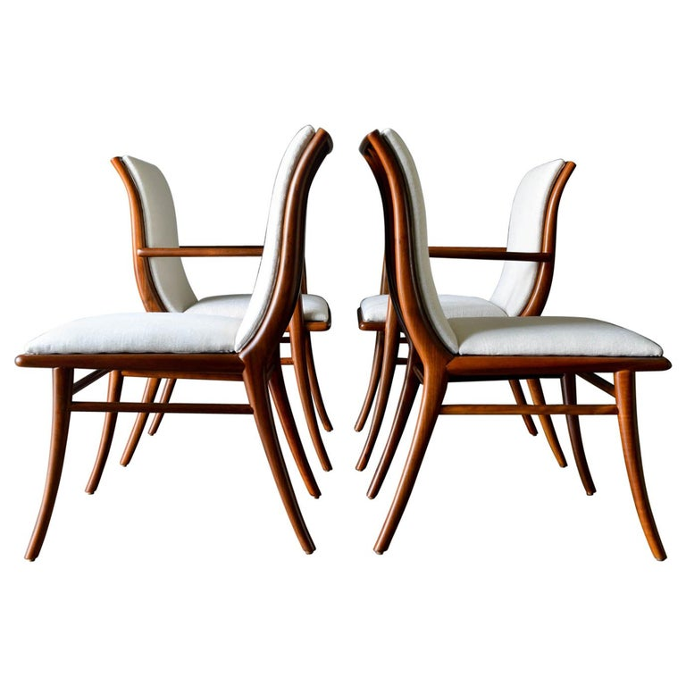Walnut Dining Chairs by T.H. Robsjohn-Gibbings for Widdicomb, ca. 1960 For Sale