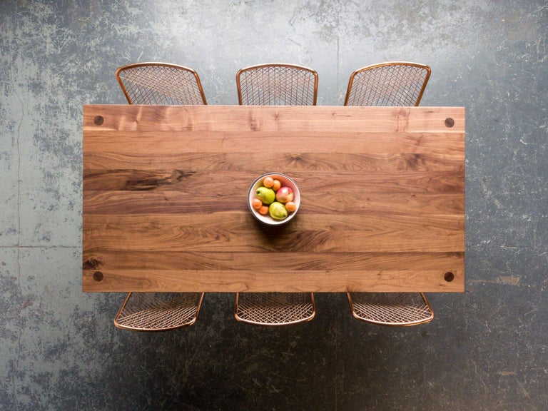 Modern Walnut Dining Table by Fernweh Woodworking For Sale