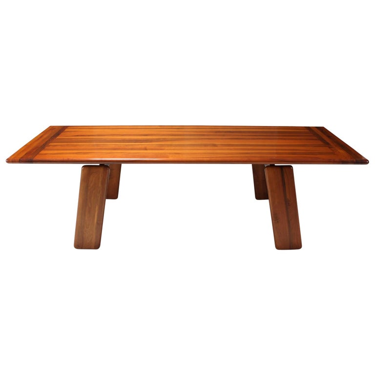 Mario Marenco walnut Dining Table, Italy For Sale