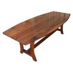 Walnut Dining Table, Custom Made by Petersen Antiques