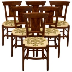 Walnut Directoire Period Dining Chairs