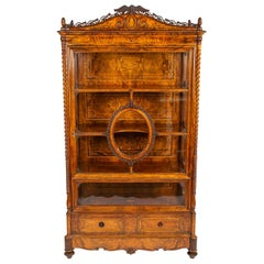 Walnut Display Cabinet with the Monogram of Grand Duke Friedrich I of Baden