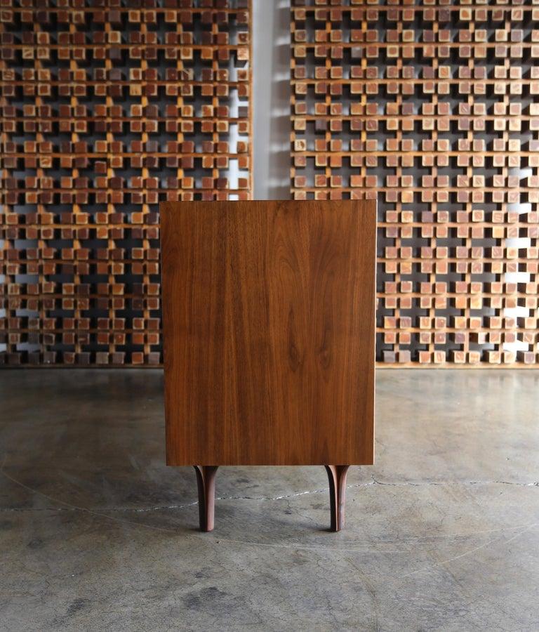 Aluminum Walnut Dresser by Dresser by Robert Baron for Glenn of California For Sale