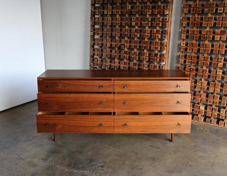 Walnut Dresser by Dresser by Robert Baron for Glenn of California For Sale 1