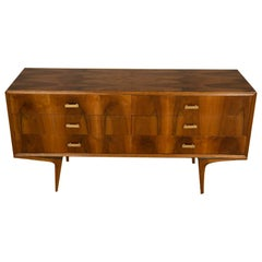 Walnut Dresser with Six Drawers in the Manner of Ico Parisi, C 1950