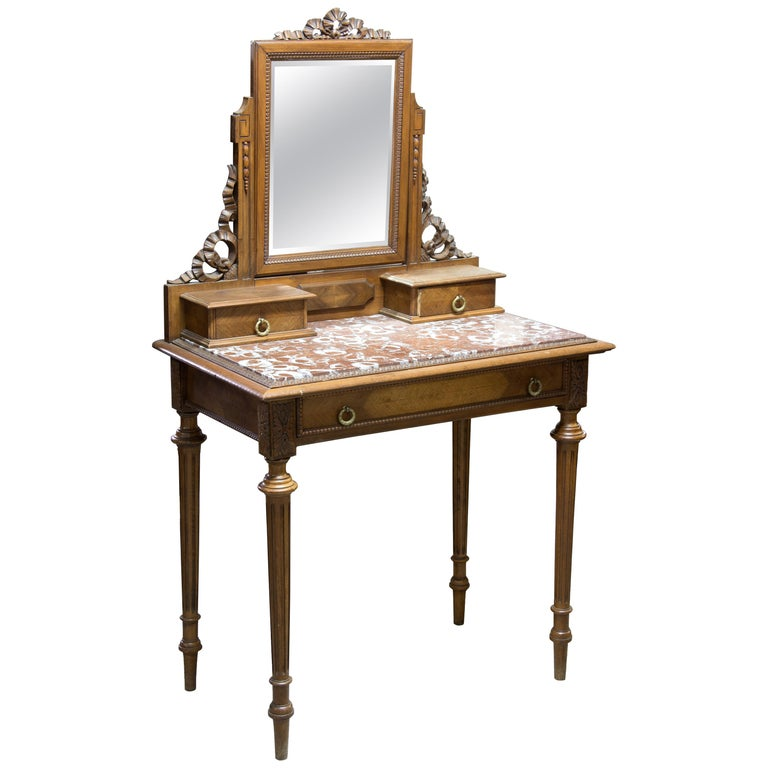 Walnut Dressing Table France 19th Century For Sale At