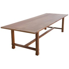 Custom Walnut Farm Table Made to Order by Petersen Antiques