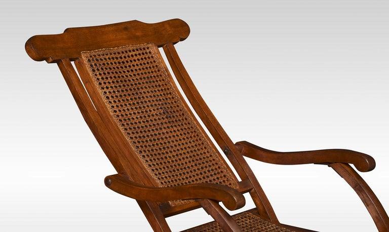 Walnut Framed Folding Steamer Deck Chair 2
