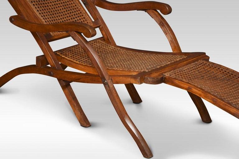 Walnut Framed Folding Steamer Deck Chair 3