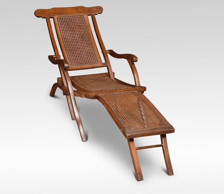 Walnut Framed Folding Steamer Deck Chair 4