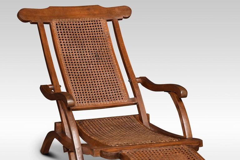 Walnut Framed Folding Steamer Deck Chair 5