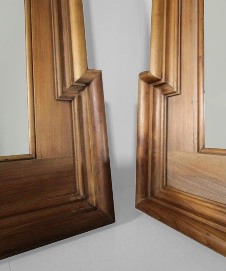 English Walnut Framed Mirror