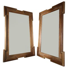Walnut Framed Mirror