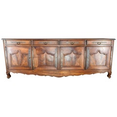 Walnut French Monumental Sideboard, 19th Century