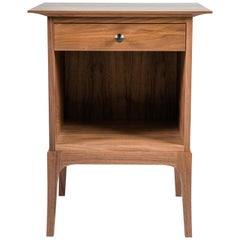 Walnut Glendale Nightstand with Drawer and Open Cabinet