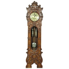 Walnut Grandfather Clock, circa 1910