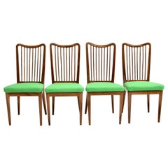 Green Fabric Vintage Dining Chairs by Oswald Haerdtl attributed, Vienna, 1950s
