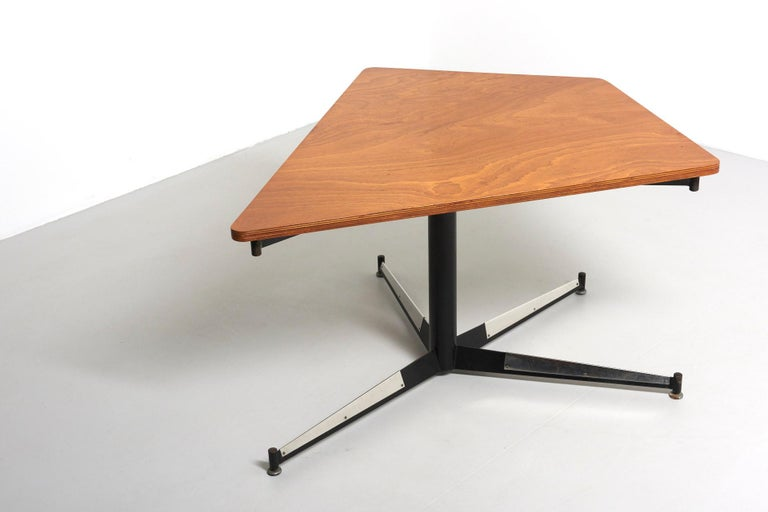 Mid-Century Modern Walnut HBK table by Willy Van Der Meeren For Sale