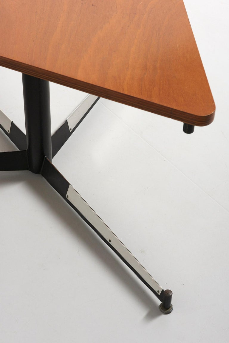 Belgian Walnut HBK table by Willy Van Der Meeren For Sale