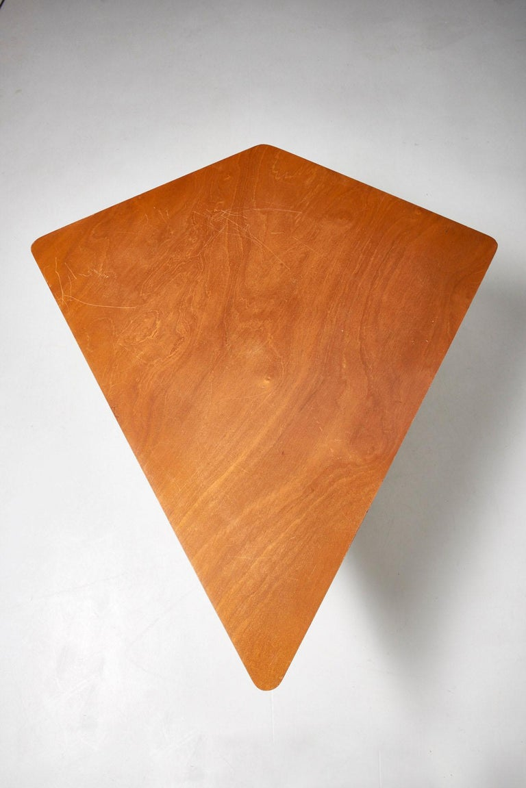 Steel Walnut HBK table by Willy Van Der Meeren For Sale