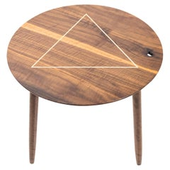 Walnut Inlay Table with Exquisite Inlays and Detailing by Birnam Wood Studio