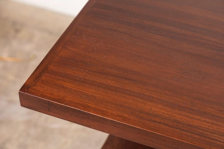 Mid-Century Modern Walnut Ivanhoe Desk with Pencil Drawers by Lawson-Fenning For Sale