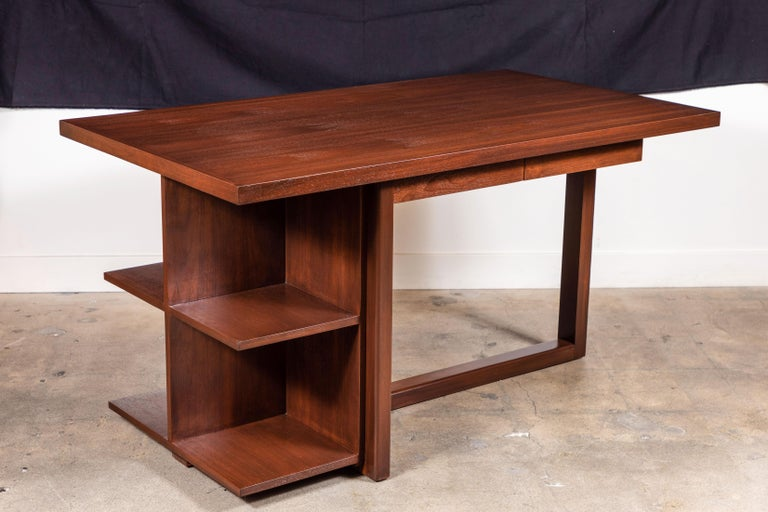 Contemporary Walnut Ivanhoe Desk with Pencil Drawers by Lawson-Fenning For Sale