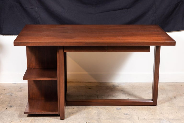 Walnut Ivanhoe Desk with Pencil Drawers by Lawson-Fenning For Sale 1