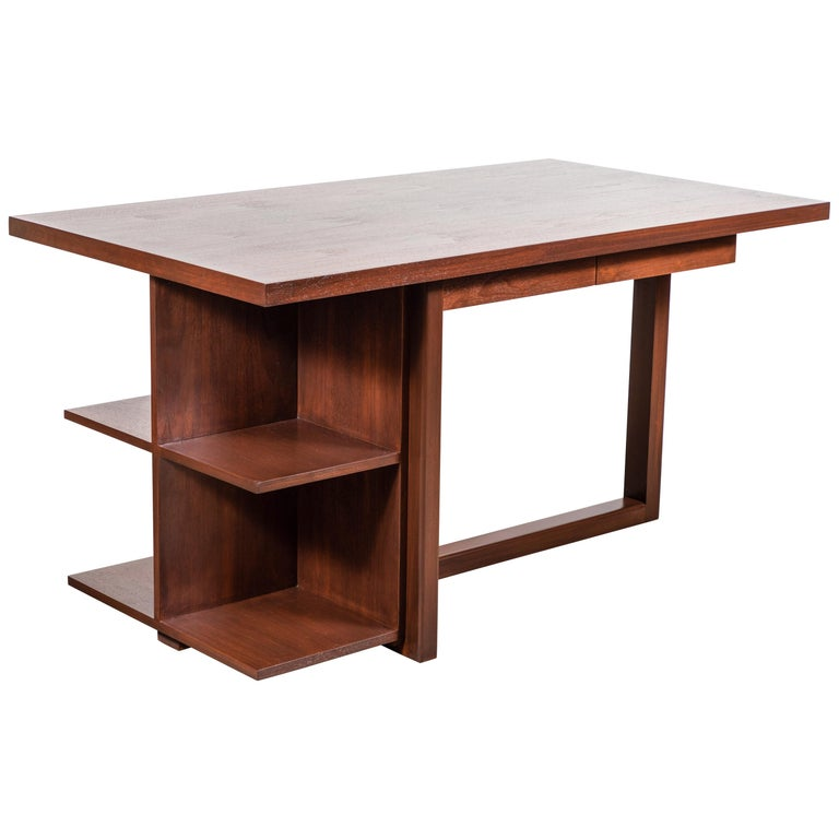 Walnut Ivanhoe Desk with Pencil Drawers by Lawson-Fenning For Sale