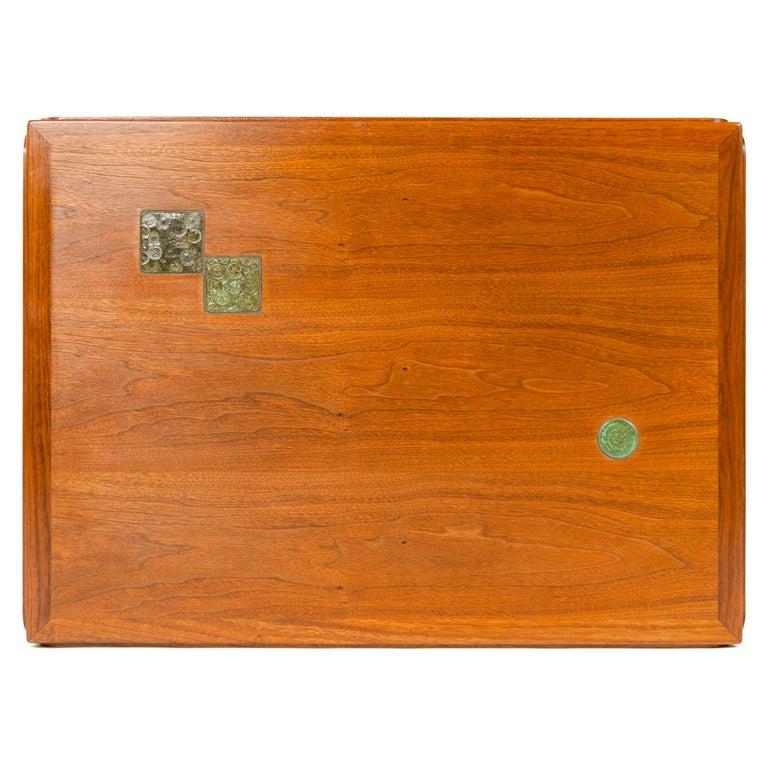 American Walnut 'Janus' End Table by Edward Wormley for Dunbar For Sale