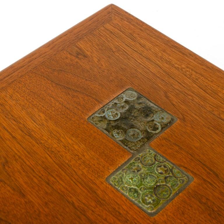 Mid-20th Century Walnut 'Janus' End Table by Edward Wormley for Dunbar For Sale