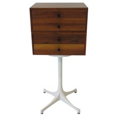 Walnut Jewelry or Watch Cabinet in the Style of George Nelson