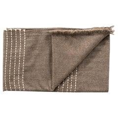 Walnut Jute Handloom King Size Bedspread / Coverlet in Pure Handspun Yak