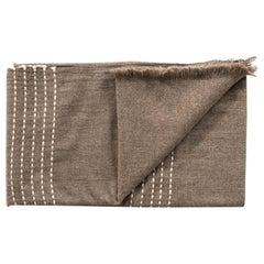 Walnut Jute Handloom Queen Size Bedspread / Coverlet in Pure Handspun Yak