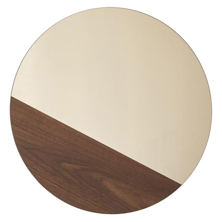 Walnut Large Horizon Mirror by Hollis & Morris